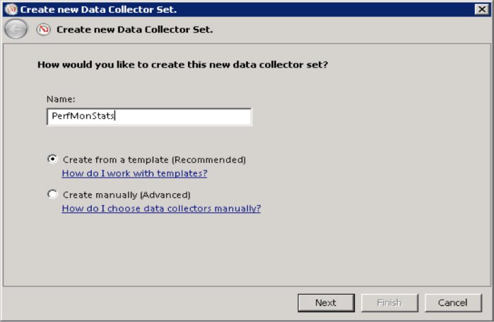 W8-3 Name New Data Collector Set